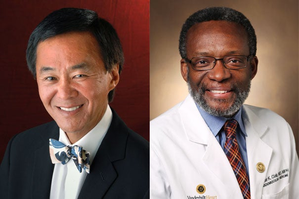 Morgan Chu (left) has been named president of the Board of Overseers for 2014-15. Walter Clair will serve as vice chair of the board's executive committee.