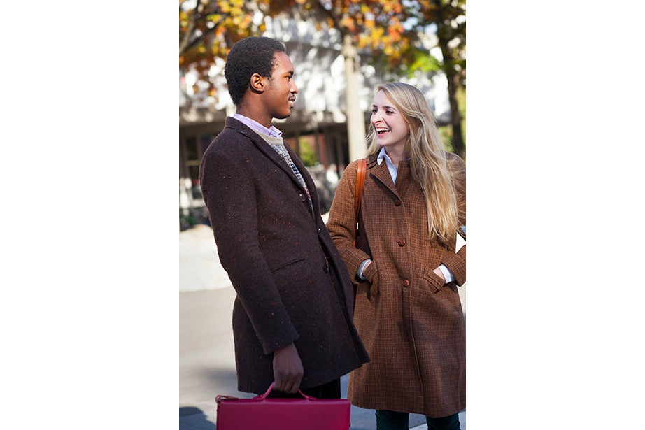 """Tobi Tikolo '14 and Sophie Hagerty '14 have been dating for two years. """"We're just really similar,"""" said Tikolo. Even their style is complementary: """"I do wear a lot of masculine-inspired things. I like men's shoes and men's watches,"""" said Hagerty."""