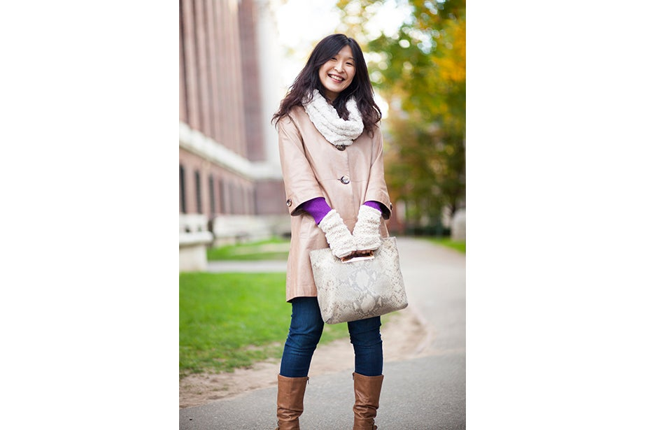 """""""I have to dress like a professional and not so sexy or fun,"""" said Tokyo native Ayumi Kanamoto, a visiting fellow at Harvard Kennedy School. """"In Tokyo, everyone dresses very well. Here, people have a lot of passion and they're interesting, but not so fashionable. I'm not even considered fashionable in Japan!"""""""
