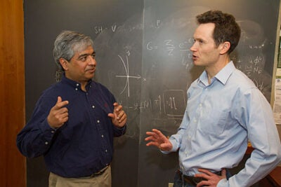 Harvard's Department of Physics recently won a $1 million award from the Moore Foundation to study quantum systems. Physics Professor Subir Sachdev (left) submitted the competition proposal, along with colleagues Eugene Demler and Bertrand Halperin (not pictured).