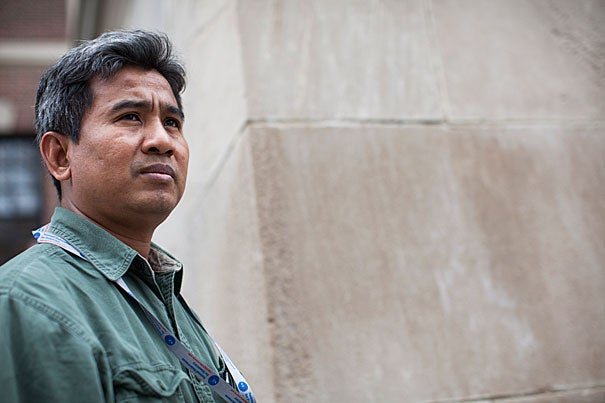 """""""I am working for history,"""" says Scholar at Risk Thet Sambath about his film """"Enemies of the People,"""" a documentary of mid- to late-1970s Cambodia. Empathy is Sambath's mantra. """"I am not angry. I do not hate these people,"""" he said of the personal side of his investigations."""