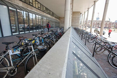 Bikes are big on campus, especially at the Graduate School of Design. On Earth Day, the Office for Sustainability will host a bike-safety check in the Science Center Plaza as part of its Earth Day Bonanza.