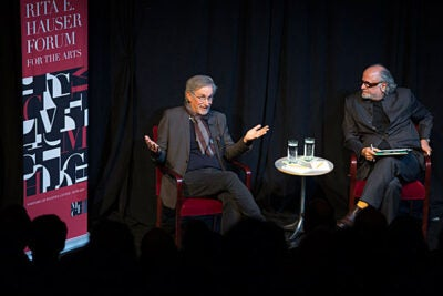 "Oscar-winning director Steven Spielberg joined Homi Bhabha for a  conversation at the Loeb Drama Center on Tuesday. When asked by Bhabha what will happen to filmmaking when the ""public audiences for cinema diminish"" as viewers gravitate to newer technologies, Spielberg was optimistic, insisting that there will always be a place for movies ""in some form or another as a public communion."""