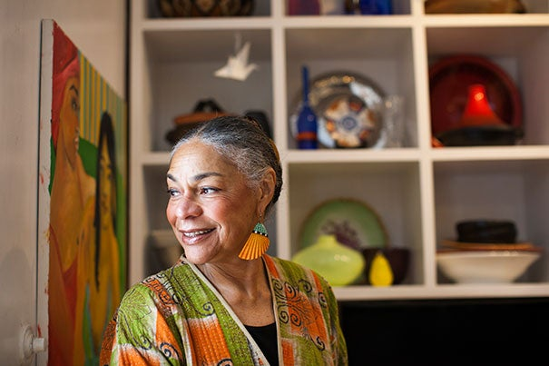 Sara Lawrence-Lightfoot is the Emily Hargroves Fisher Professor of Education at Harvard Graduate School of Education. She is pictured in her home in Boston. Stephanie Mitchell/Harvard Staff Photographer