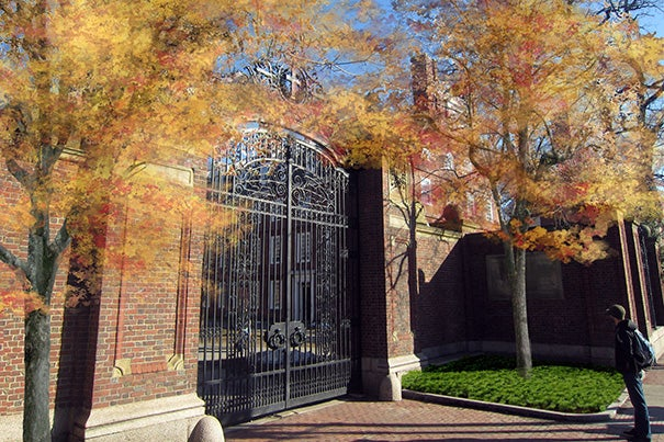 An artist's rendering of Johnston Gate depicts what the gate will look like following the landscaping project. The gate will be 125 years old in December.