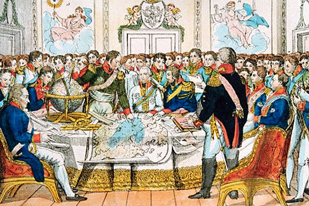 The leaders of Europe in debate during the Congress of Vienna, 1814-15. Historians will gather at Harvard on April 11 to mark the 200th anniversary of the Congress of Vienna.