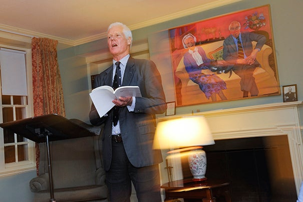 """Kevin McGrath, an associate in the Department of South Asian Studies and Lowell House poet-in-residence, reads from his collection of poems, """"Windward."""""""