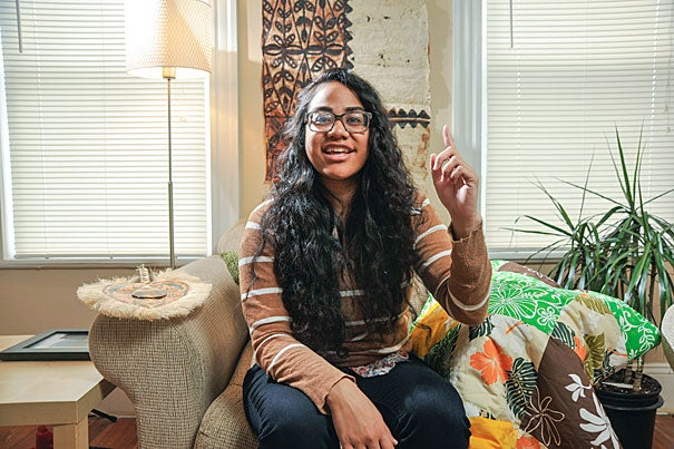"Moana ′Ulu′ave hails from Tonga and a rich culture of storytelling. Outside Harvard, she helped lead a weekly writing course at a women's prison in Framingham, Mass., as part of a program run by Boston University. ""For a lot of women there, education is redemptive. You've been punished, that's why you're in prison, and the only thing of your own that you have is your mind,"" she said."