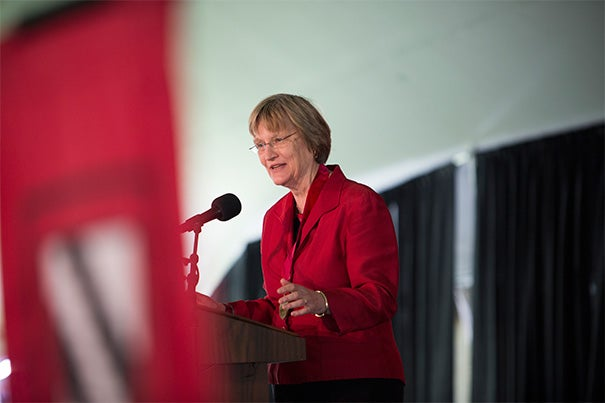 """I worry that a complacency is emerging in our society about the place of women, a complacency that too easily forgets that things were once otherwise and there is still a considerable way to go in American society,"" said President Drew Faust, who before becoming president of Harvard was dean of the Radcliffe Institute. Faust was honored with the Radcliffe Medal during its annual fete."