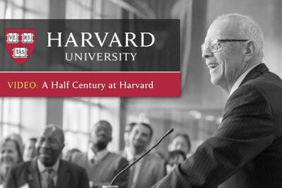 """A video focuses on John P. """"Jack"""" Reardon Jr. '60, who will step down as Harvard Alumni Association executive director in July. In it he shares his memories as he looks back on 50 years at Harvard University."""