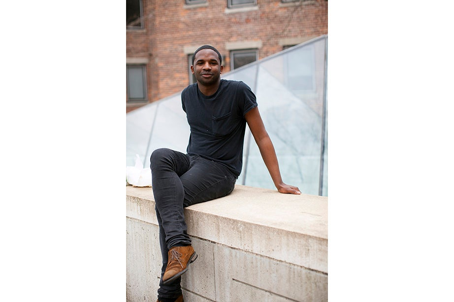 """Being from NYC, black is sort of the uniform,"" said Jake Roundtree, a Ph.D. student in government. ""I'm just trying to wear what's comfortable. I'm a bit of a minimalist."""