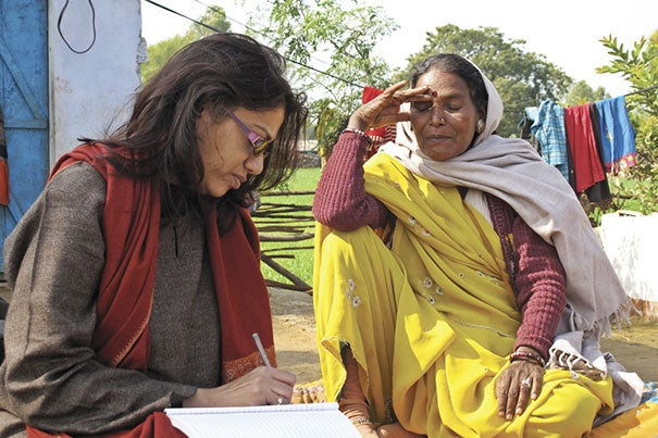 In its six-week election, India will be choosing a new government. Kalpana Jain (left), a master of theological studies degree candidate at Harvard Divinity School and a former editor at the Times of India, offered her perspective on the role of religion in Indian politics.