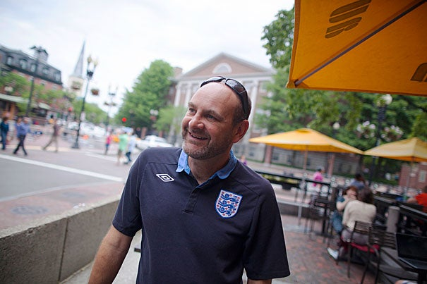 """Our model has almost nothing to do with soccer in the sense that we've never played a game where two teams score goals,"" said Nick Gates '91, founder of Coaches Across Continents, which helps countries with issues such as female empowerment, conflict resolution, life skills, and HIV prevention. ""It's just that soccer is our vehicle for education."""