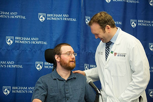 Will Lautzenheiser hopes to become Brigham and Women's third double arm-transplant patient, its first involving an arm above the elbow, and one of just a few in the world to undergo the bilateral procedure. Simon Talbot, assistant professor of surgery at Harvard Medical School, is the lead surgeon on Lautzenheiser's case.
