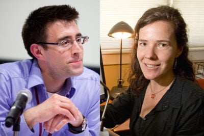 Arthur Spirling and Stacey Combes are this year's winners of the Roslyn Abramson Award, given to assistant or associate professors for excellence in undergraduate teaching.