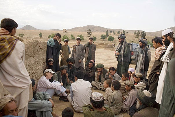 Three veteran war correspondents talk about the increasingly dangerous job of reporting from conflict zones. New York Times reporter Carlotta Gall (seated, left) has covered Afghanistan since the 9/11 attacks.  Gall, a 2012 Nieman Fellow, is now the North Africa bureau chief for the Times.