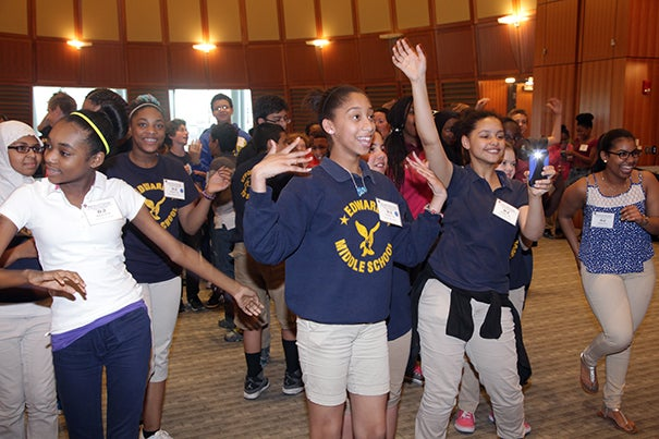 Nearly 400 local students recently attended the 11th annual celebration of Reflection in Action: Building Healthy Communities. The program works to expand middle school students' knowledge of health and public health issues, recognize their growing roles as leaders in the community, and use the arts to express messages about health.