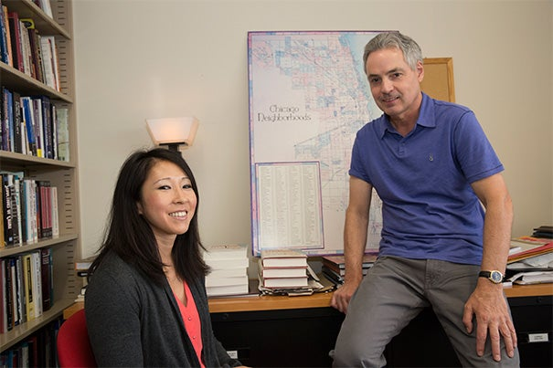 """Calling their research """"sobering,"""" doctoral student Jackelyn Hwang and Henry Ford II Professor of the Social Sciences Robert Sampson used Google Street View to scour thousands of Chicago streets for signs of gentrification and found that race still matters when it comes to transforming cities."""
