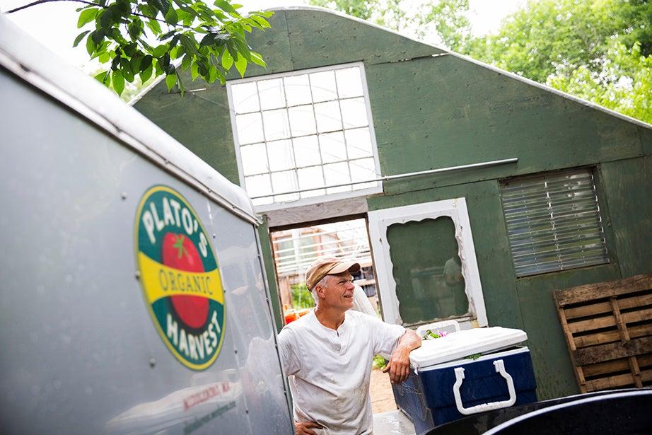 Farmer Dave Purpura named his Middleboro, Mass., farm Plato's Harvest after his beloved pet goat.