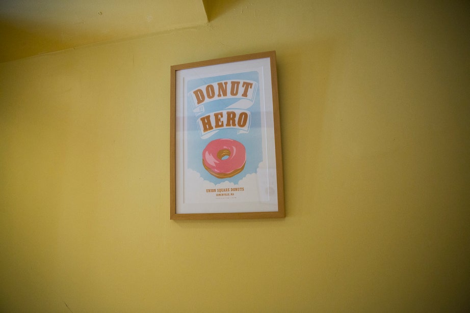 Inside Somerville's Union Square Donuts, the mood is fun, like its gigantic crave-worthy maple bacon doughnuts.