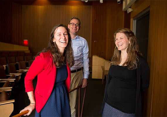 Harvard's Felix Warneken co-authored a study with former Harvard students Jillian Jordan (left) and Katherine McAuliffe that suggests that even at a relatively young age, children have advanced ideas about fairness, and are willing to pay a personal price to intervene in what they believe are unfair situations, even when they have not been disadvantaged personally.