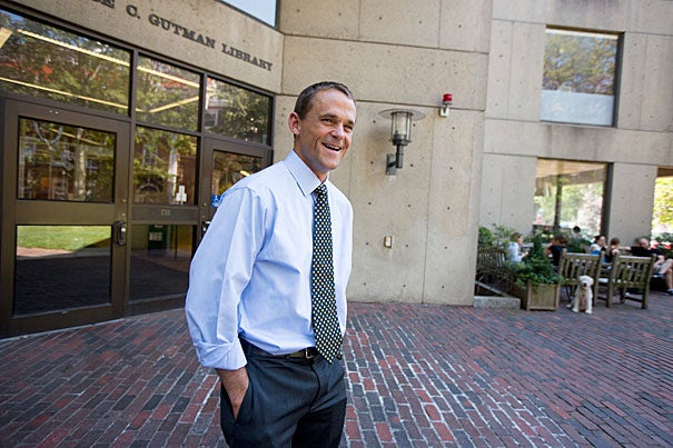 """I have five priorities for this year,"" said Harvard Graduate School of Education Dean James Ryan, who was appointed dean one year ago. ""The heart of any school is its faculty, and so my very top priority is to make sure that we attract the very best faculty in the world to this School, and that once we attract them, we retain them."""