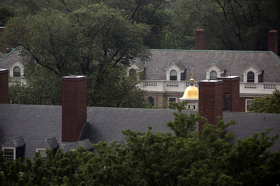 Lowell House's small tower, a hidden Harvard treasure.