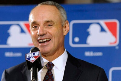 "Robert Manfred, J.D. '83, was named the commissioner of Major League Baseball. He is the 10th commissioner in the history of the game. Raised a Yankees fan, he says he has ""moved into a state of 'permanent neutrality.'"""