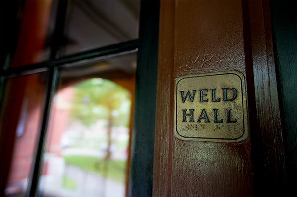 As freshmen move into dorms in and around the Yard, fellow students, faculty, and administrators offer tips on how best to adjust to the Harvard experience. Weld Hall, built in 1870, is among the freshmen dorms that will be filling up during Monday's move-in day.