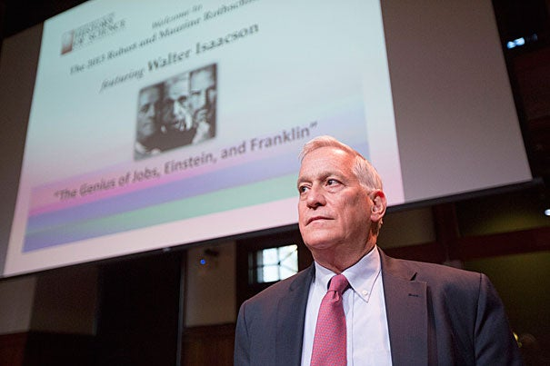 """""""We're now in a phase in which the connection of creativity to technology is going to drive innovation,"""" said Walter Isaacson '74, a Harvard Overseer, biographer, and CEO of the Aspen Institute. """"I do believe that it's important for people to have an appreciation for the arts and humanities."""""""