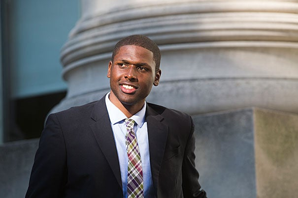 """As far back as second grade, I've wanted to go to law school, and attending HLS is a dream,""  said Aldel Brown (photo 1), who joined Harvard Law School's Class of 2017 this fall. Brown credits Boston's Tenacity tennis program with helping him to develop the drive and skills needed to succeed. During the summer, Brown returned as a Tenacity volunteer (photos 2, 3), something he plans to continue throughout his time at Harvard."