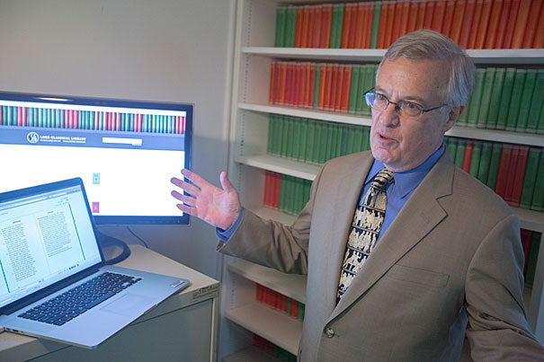 """""""Print is still very useful, volume by volume,'' said Jeffrey Henderson, general editor of the Loeb Classical Library since 1999. But digital """"gives people the opportunity to do something we can't do with the print version.'' The Loeb Classical Library Foundation joined with Harvard University Press to digitize all of the library's 520-plus volumes."""