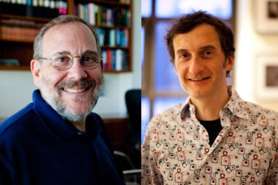 Harvard's  Joshua Sanes (left) and Alexander Schier, as well as Aviv Regev of the Broad Institute (not pictured), are among the first researchers nationwide to receive grant funding through the BRAIN Initiative launched last year by President Obama. A second team of recipients includes Harvard professors Florian Engert, Jeffrey Lichtman, Connie Cepko, and visiting professor Haim Sompolinsky. Harvard Medical School Professor of Neurobiology Rachel Wilson will also receive funding though the initiative.