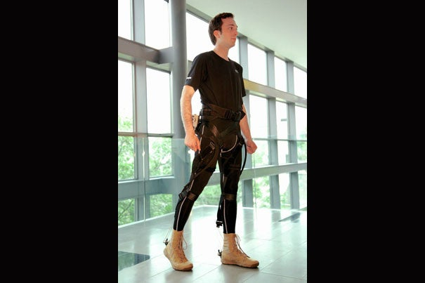 """While the idea of a wearable robot is not new, our design approach certainly is,"" said Wyss Institute core faculty member Conor Walsh. The smart suit fits under clothing and could help soldiers walk farther, tire less easily, and carry heavy loads more safely."