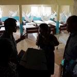 The Partners In Health advance Ebola response team visits the Martha Tubman Memorial Hospital in Zwedru, Liberia.
