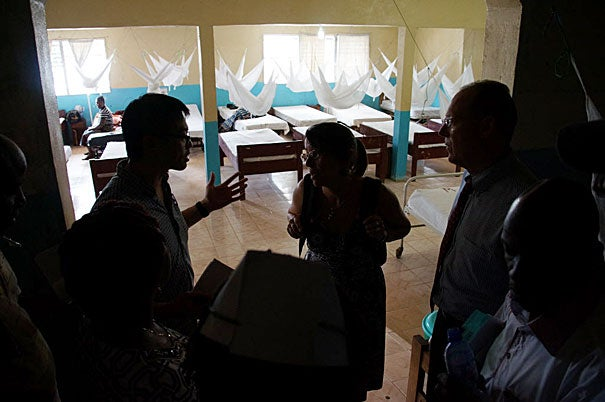 The Partners In Health advance Ebola response team visits the Martha Tubman Memorial Hospital in Zwedru, Liberia.