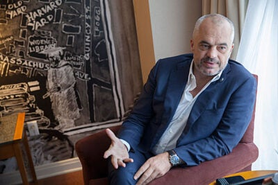 """We have … the youngest government in the history of Albania,""  said Prime Minister Edi Rama. ""My choice was to have ministers who have never been ministers. In politics, experience is what kills innovation and reform."" To assist its young government, Albania has turned to Harvard as part of a two-year project in its efforts to create some viable structure."