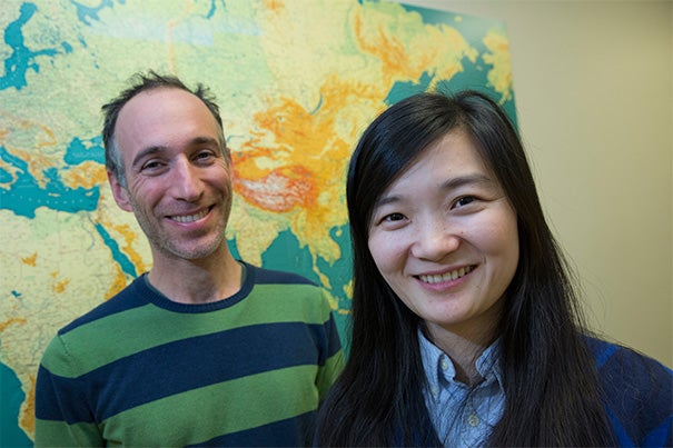 "Starting with a 45,000-year-old Siberian thighbone, research by Qiaomei Fu (right), a postdoctoral fellow at Harvard Medical School, and Professor David Reich has narrowed the window of time when Neanderthals and humans crossbred. ""Even if we cannot be sure of whether all the interbreeding occurred at once, the big picture is that we can be sure that the recent ancestors of this individual interbred with Neanderthals,"" said Fu."