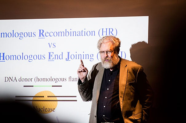 "In his talk, ""Adapting Species to a Changing World: The Potential of Genome Editing,"" Professor George Church spoke about his efforts to engineer a mammoth from its closest living relative, the African elephant, while also discussing the primary goal of such technology: improving human health."