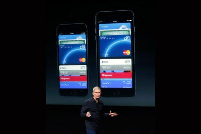 "Last month Apple CEO Tim Cook (pictured) rolled out Apple Pay with the new iPhone 6, touting its convenience and security when making purchases. But Harvard Business School's Sunil Gupta isn't so sure consumers will buy into it. ""I think it's more psychological. We're all creatures of habit, and we're used to doing certain things,"" he said. ""I think at the retail level, adoption will take more time ..."""