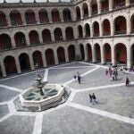 The courtyard at the Palacio Nacional. Stephanie Mitchell/Harvard Staff Photographer