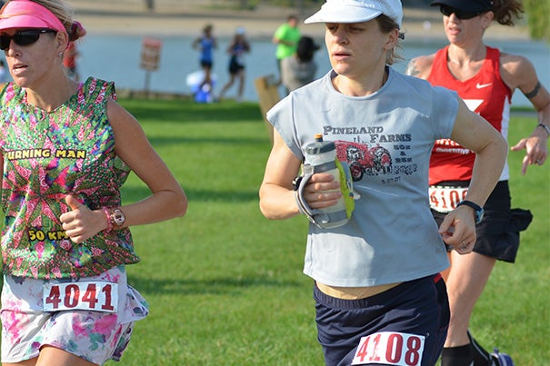Jenny Hoffman, an associate professor of physics and an ultrarunner, recently brought home the 2014 national championship in USA Track and Field's 24-Hour Run, posting a final distance of more than 127 miles.