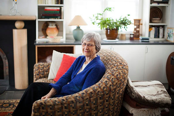 Laurel Ulrich is the 300th Anniversary University Professor at Harvard University. She is pictured in her home in Cambridge. Stephanie Mitchell/Harvard Staff Photographer