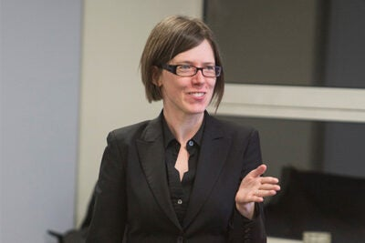 """""""I believe that learning how to code — learning how to program a computer — essentially how to create, should be for all kids and not just for some kids,"""" Assistant Professor Karen Brennan told her audience at Harvard's Ed Portal."""