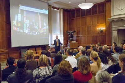 Cultural intelligence requires four capabilities: motivation, drive, strategy, and action, said David Livermore, president of the Cultural Intelligence Center. Livermore was the featured speaker in the first Diversity Dialogue lecture this year.
