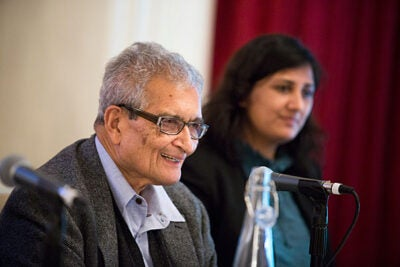 "The ""slow-burning genocide"" of Burma's Rohingya, a Muslim minority, was the focus of Harvard scholars and Burmese activists gathered at Loeb House this week. Professor Amartya Sen (left) said that it's important that the international community pressure the government to change its official policy and restore citizenship to the group."