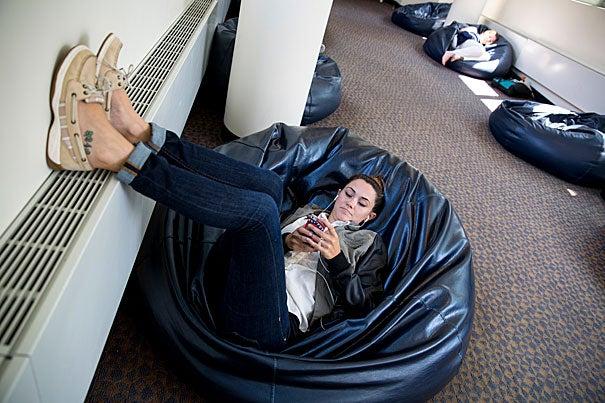 Brilliant Hidden Spaces Beanbag Alley Harvard Gazette Alphanode Cool Chair Designs And Ideas Alphanodeonline