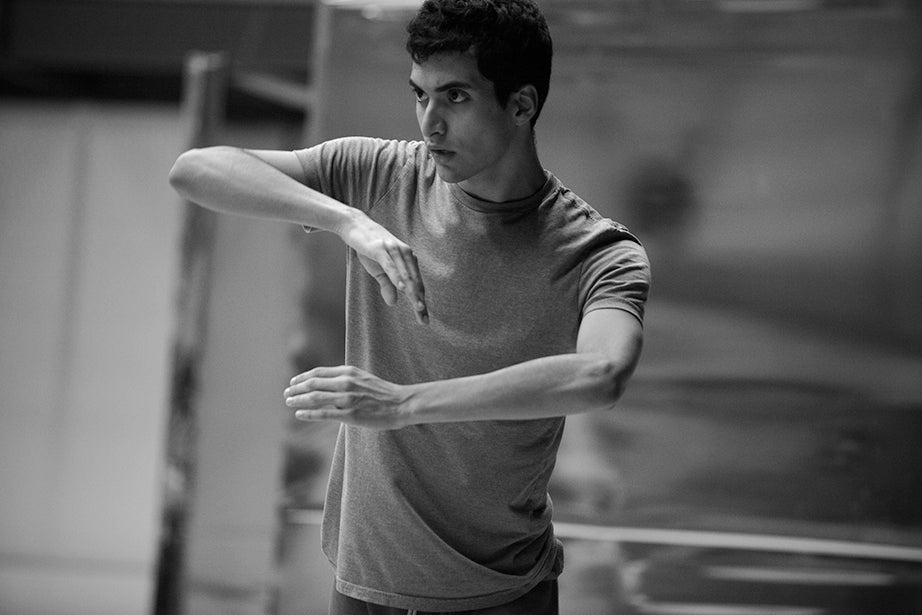 """Aru Gonzalez '14, Ed.M. '15, said that taking part in the Dance Project has helped give him """"more voice as a dancer and a person. I've been able to contribute more and to be more creative; to take more risks in dance."""""""