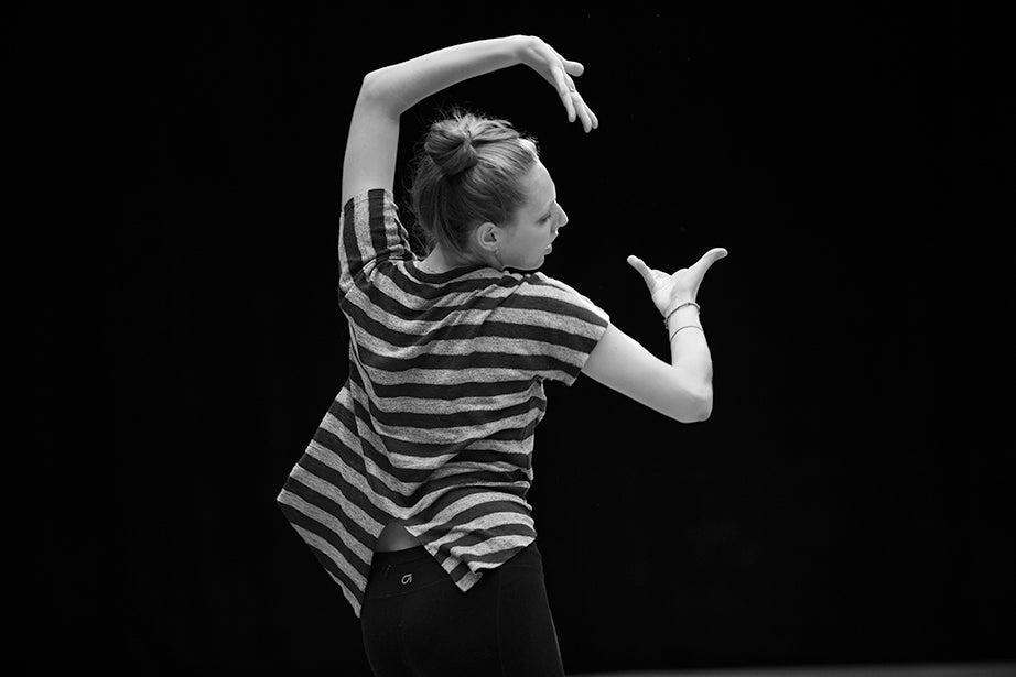 Tessa Markewich '16 captured in an evocative pose.
