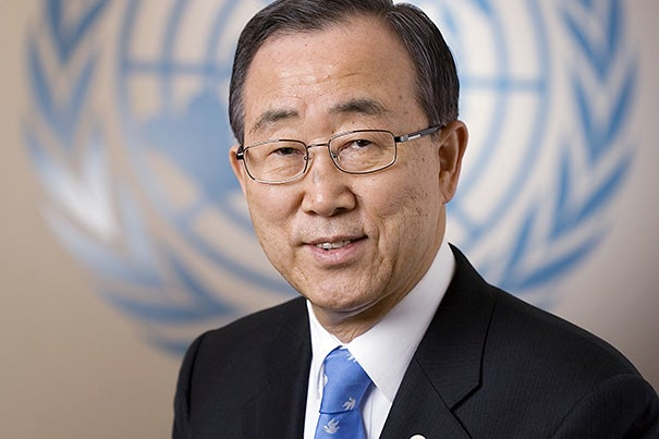 U.N. Secretary-General Ban Ki-moon has been named the 2014 Humanitarian of the Year by the Harvard Foundation. He will speak at the Memorial Church on Dec. 2.